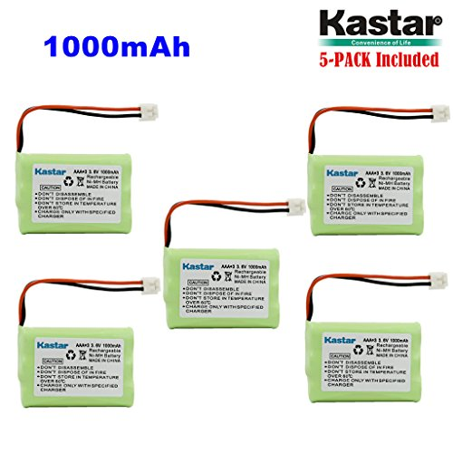 Kastar 5-PACK AAA 3.6V EH 1000mAh Ni-MH Battery for Motorola MD-4260/7101/7151/7161/7251//261/761/781/791/7101/7151/7161 SD4501/4502/4550/4551/4561/4581/D4591 SD7500/7501/7502/7561/7581 etc. by Kastar