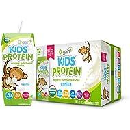 Orgain Kids Protein Organic Nutritional Shake, Vanilla, Gluten Free, Kosher, Non-GMO, 8.25 Ounce, Pack of 12