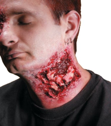 Zombie Neck Halloween Makeup (Rubie's Reel F/X Chomped Bite Wound Kit, Red, One)