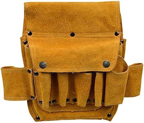 耐久性工具バッグ 手のためのマルチポケット木工パワーツールウエストバッグツールストレージのハンドバッグの機能テクニシャンバッグ 工具収納&仕分け管理&運搬用 (色 : 黄, Size : One size)