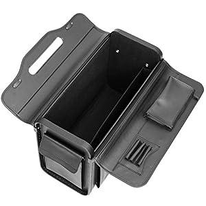 Tassia Executive Leather Look Pilot Case – Front Pocket Lock Protection – Pilotcase