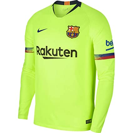 caeb17d6a2c Nike 2018-2019 Barcelona Away Long Sleeve Football Soccer T-Shirt Jersey