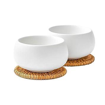 Tasses Pour Lot De Multiusage Blanc 2 Zens En Fu Kung Porcelaine Yb6v7fyIg