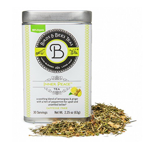 - Inner Peace - Morning Sickness Relief - Birds & Bees Teas Tin - Soothes and Calms Upset Stomachs and Unsettled Bellies! Organic Herbal Tea Blend! - Great for Families and for Mothers (~30 servings)