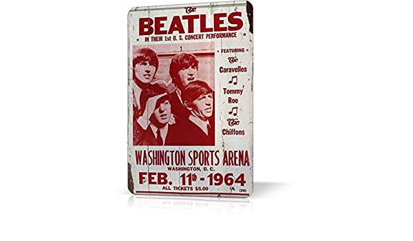Amazon.com: Metal TIN Sign Beatles Concert Poster Classic ...