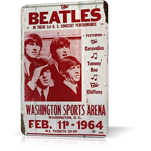 Metal TIN Sign Beatles Concert Poster Classic Rock Vintage Decor Home Bar Wall ()