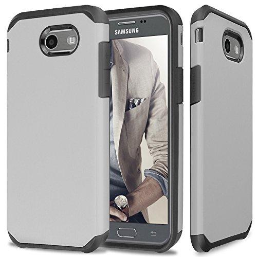 Slim Shockproof Case for Samsung Galaxy J7 (Grey) - 1