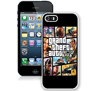 Personalized Phone Case Design with GTA 5 Cover Art iPhone 5s Wallpaper in White