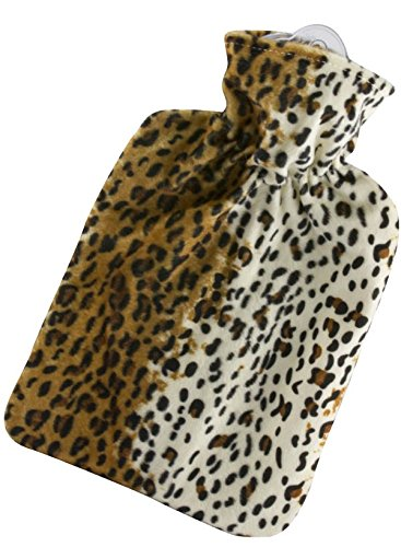 Hugo Frosch 1.8L Classic Leopard Hot Water Bottle with Cover Made in Germany by Hugo Frosch