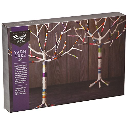 Ann Williams Group Craft Crush Yarn Tree - Create a Jewelry Stand or Home Décor Piece - Crafting Kit for Teens & Adults (Tree Craft Kit)