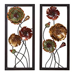 Deco 79 68353 Metal Wall Decor, Set of 2