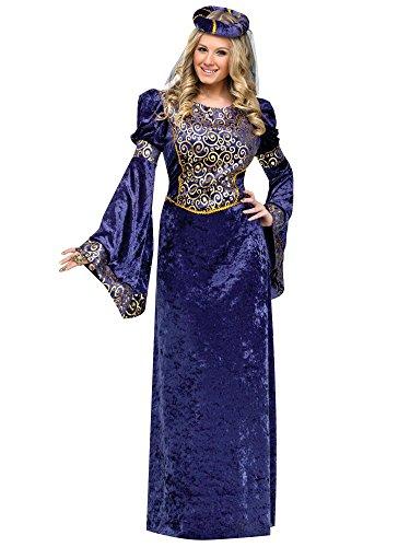Lady Renaissance Navy Black Adult Costume (Large) -