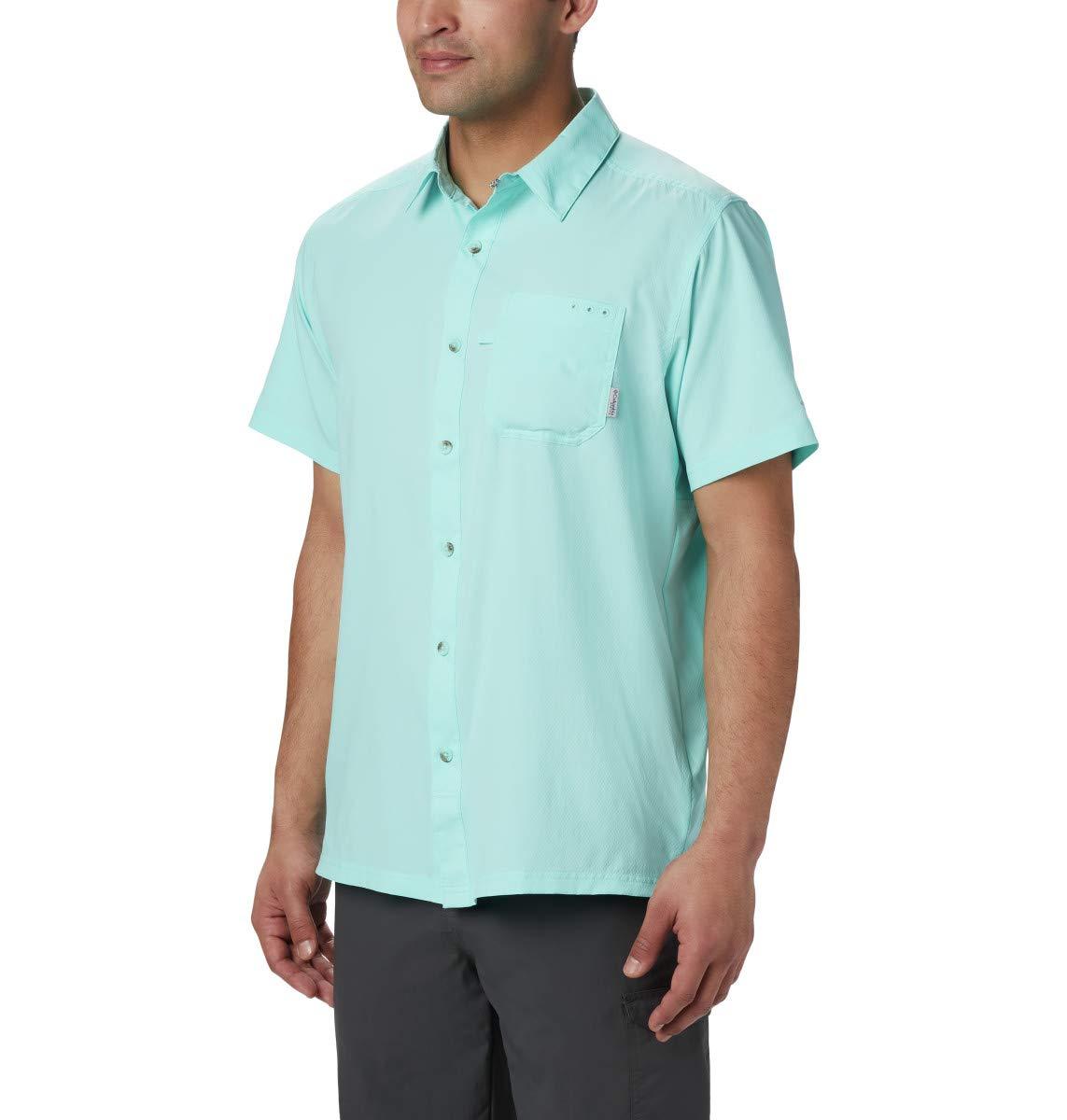 Columbia Sportswear Men's PFG Slack Tide Camp Shirt (Big), Gulf Stream, 4X by Columbia