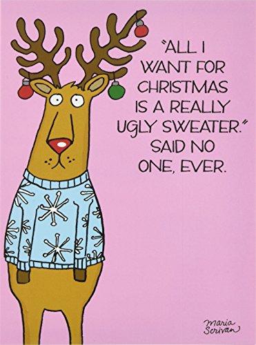 NobleWorks Sweater Reindeer Christmas Greeting