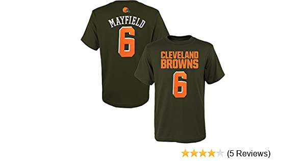 0370313bf Amazon.com   OuterStuff Baker Mayfield Cleveland Browns  6 Brown Youth Name    Number T-Shirt   Sports   Outdoors
