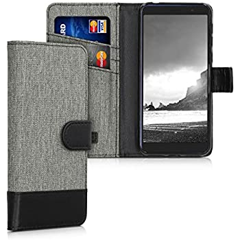 Amazon.com: kwmobile Wallet Case for Alcatel 3X - Fabric and ...