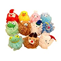 Gemini Fairy Kids Toy Pouf Mesh Bath Sponge with Stuffed Animal (4 pack) from Gemini Fairy