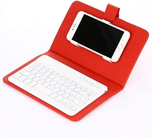 Amazon Com Nygstore 2020 New Portable Wireless Bluetooth Keyboard Case For Mobile Phone Protector Red 22514030mm Home Kitchen