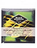 Black Diamond N754L Silverwound Acoustic Guitar Strings, Light