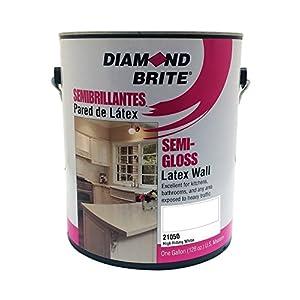 Diamond Brite Paint 21050 1-Gallon Semi Gloss Latex Paint High Hiding White