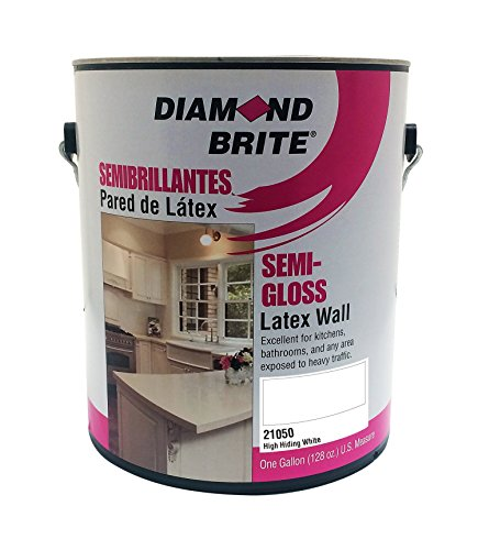 Diamond Brite Paint 21050 1-Gallon Semi Gloss Latex Paint High Hiding White (Semi Gloss Trim)
