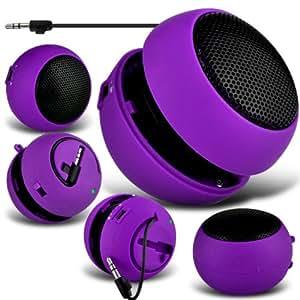 Gionee Gpad G4 Mini Cápsula Viajes recargable Loud 3.5mm Altavoz Bass Jack a jack de entrada (púrpura) Por Spyrox