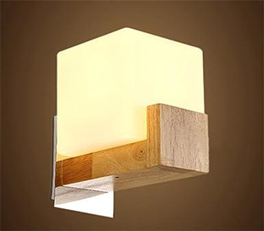 ShengYe Modern Vintage Wandlampen Wandleuchte Eiche Led Leiste Flur Bett  Platz Lampe Schlafzimmer Wand Lampe Wandleuchte