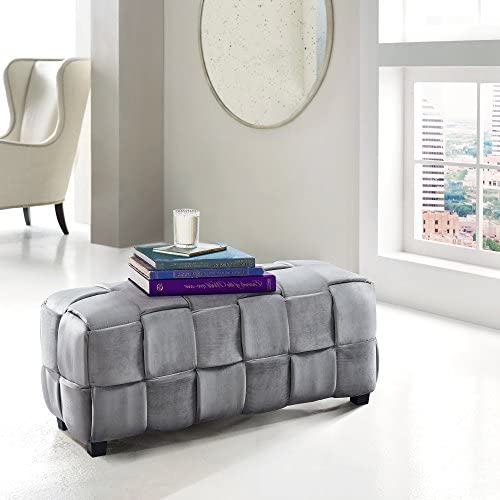 Stylish and Functional Better Homes and Gardens Round Tufted Storage Ottoman with Nailheads – Navy