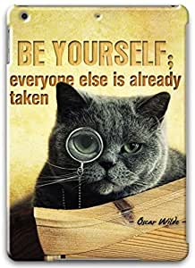 Be Yourself Quote Apple iPad Air Case, Apple iPad Air 3D Cases Hard Shell White Cover Skin Cases