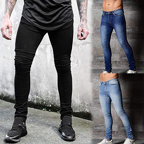 Noir 3xl Homme Biker S En Pantalon Slim Éclair Denim Jeans Taille Fermeture Pantalons Manadlian 4wBOZSqUZ