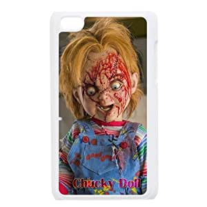 Print horrible Cartoon Character Chucky Doll Design Hard Plastic Case PC Shell for iPod Touch 4th TPU Case-4