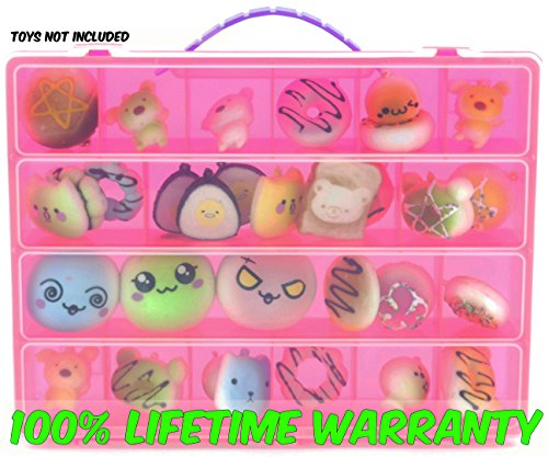 Squishies Case, Toy Storage Carrying Box. Figures Playset Organizer. Accessories For Kids by LMB