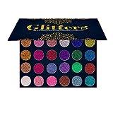 24 Colors Diamond Pressed Glitters Eyeshadow Palette Pigmented Glitter Foiled Eye Shadows