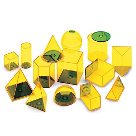 ETA hand2mind Relational GeoSolids Fillable Shape Blocks, Set of 14 (Volume Cubes)