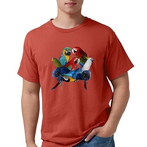 CafePress - Parrots T-Shirt - Mens Comfort Colors Shirt