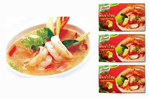 Thai Knorr Tom Yum Seasoning Cubes 24g. (Pack of 3) (Soup Cubes)