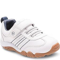 Stride Rite Infant/Toddler Boys\' SRT Prescott Sneaker - Toddler,White Leather/Te