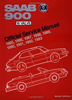 Saab 900 16-valve Official Service Manual 1985-93: Including 1994 Convertible (