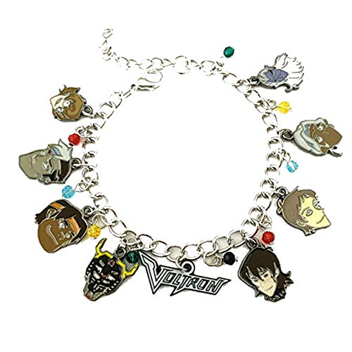 Athena Brand Voltron Charm Bracelet Quality Cosplay Jewelry Cartoon TV Series with Gift Box ()