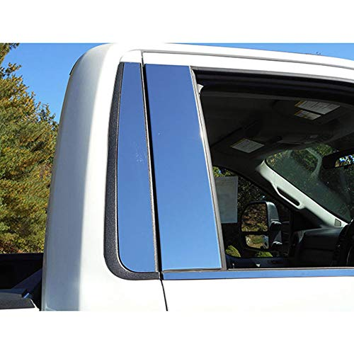 nless Pillar Post Trim 4pc fit for 2015-2019 Ford F-150 2dr Reg Cab ()