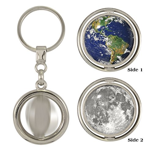 Planet earth moon 2 sided spinner keyring amazon toys games planet earth moon 2 sided spinner keyring gumiabroncs Gallery