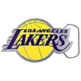 Great American Products NBA Los Angeles Lakers Belt Buckle, Silver