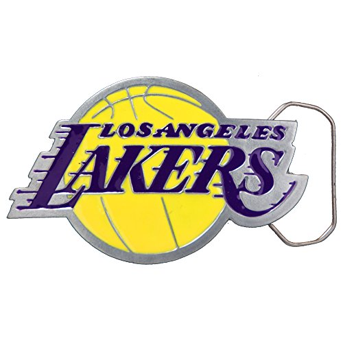 Great American Products NBA Los Angeles Lakers Belt Buckle, Silver by Great American Products
