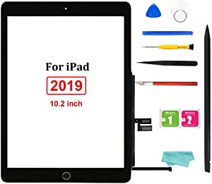 """GoodFixer for iPad 7 7th Generation Screen Replacement Digitizer 2019 10.2"""", Only for iPad 7th Gen A2197 A2198 A2200, with Home Button, Full Repair Kit, Pre-Installed Adhesive"""
