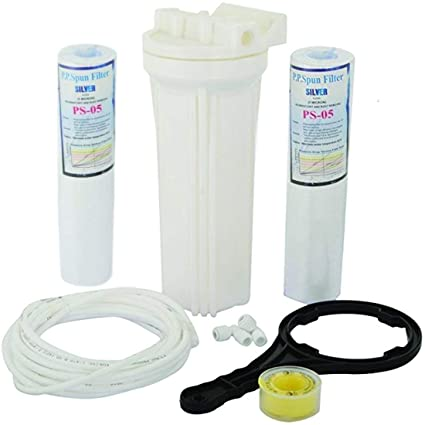 AMPEREUS Extra Spun Filter, Spanner and Telfon Kit for RO Water Purifiers (White)