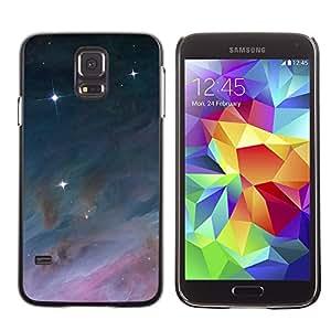 Angelic Royal Estrellas - Metal de aluminio y de plástico duro Caja del teléfono - Negro - Samsung Galaxy S5