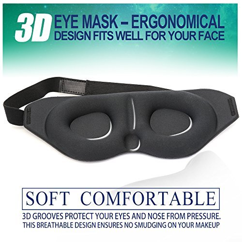 Price comparison product image BELONGSCI New 3D Sleep Mask for Sleeping Contoured Shape Ultra lightweight & Comfortable Eye Mask 2017