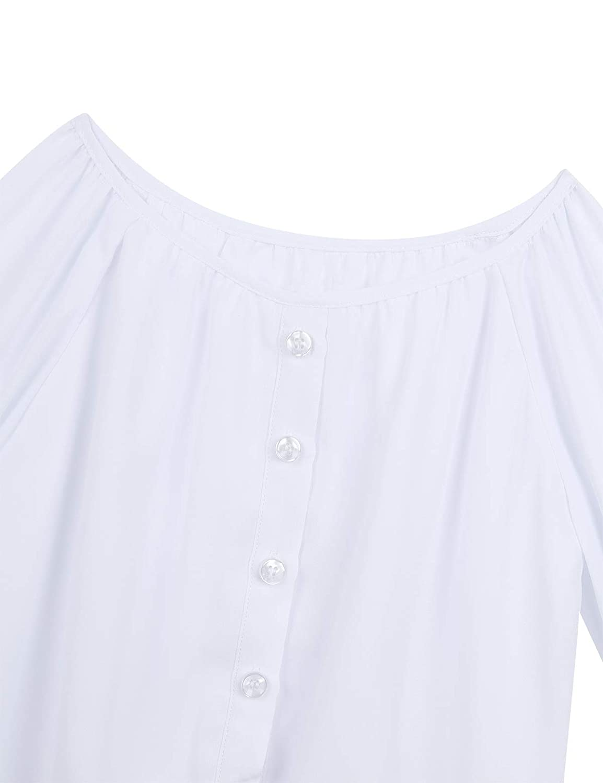 Freebily Teens Boys Girls Tops School Uniform Blouse
