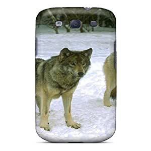 New Arrival AqaOA21586bhfZv Premium Galaxy S3 Case(three Wolf Brothers In The Snow)