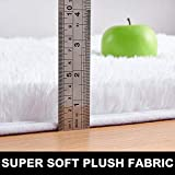 PAGISOFE Soft Comfy White Area Rugs for Bedroom
